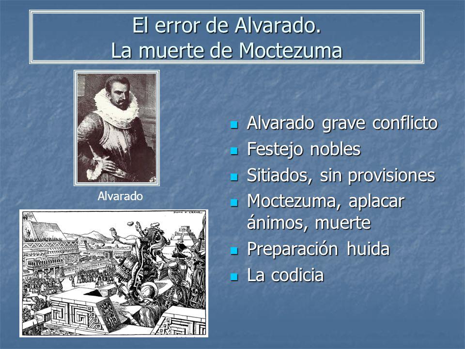 El error de Alvarado. La muerte de Moctezuma