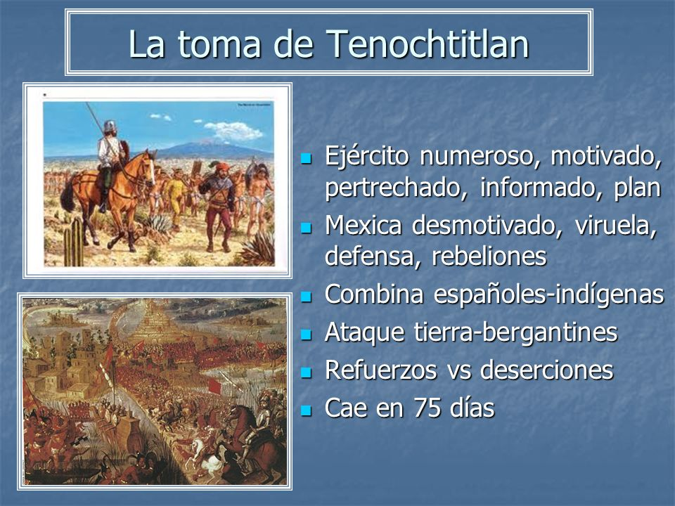 La toma de Tenochtitlan