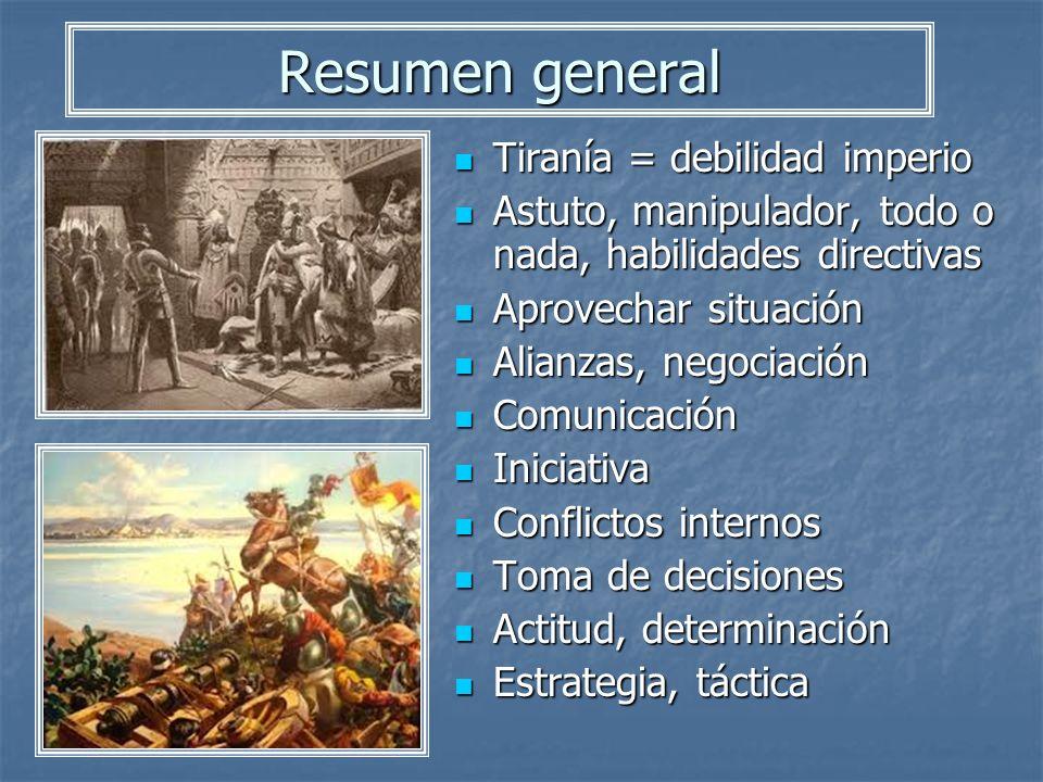 Resumen general Tiranía = debilidad imperio