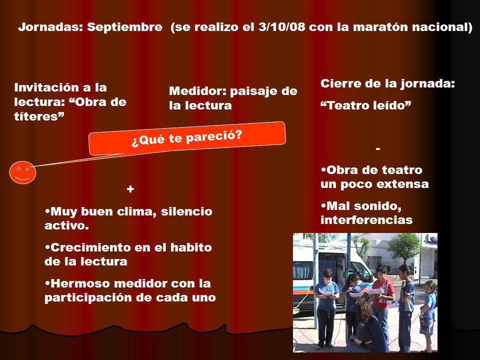 Jornadas: Septiembre (se realizo el 3/10/08 con la maratón nacional)