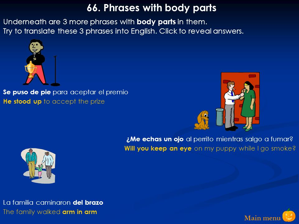 66. Phrases with body parts
