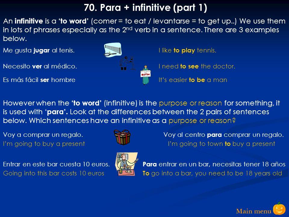 70. Para + infinitive (part 1)