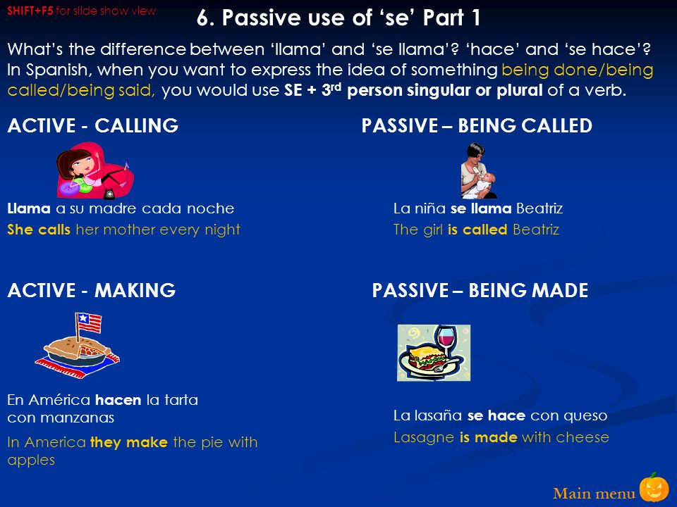 6. Passive use of 'se' Part 1