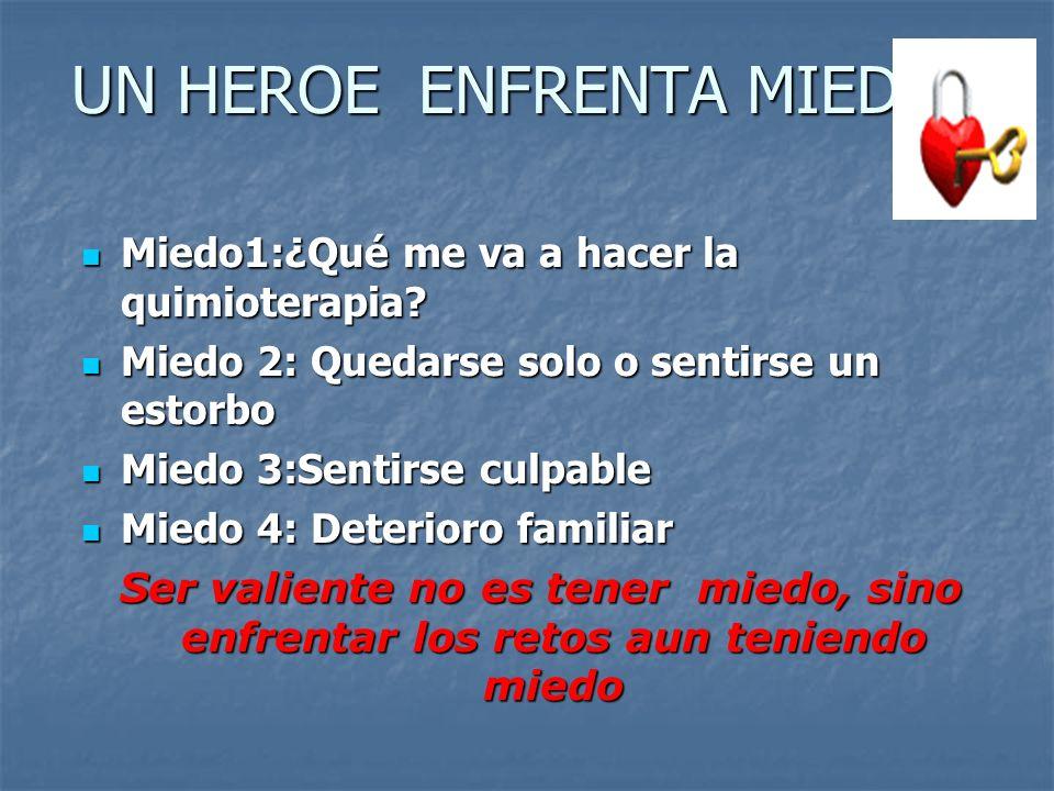 UN HEROE ENFRENTA MIEDOS