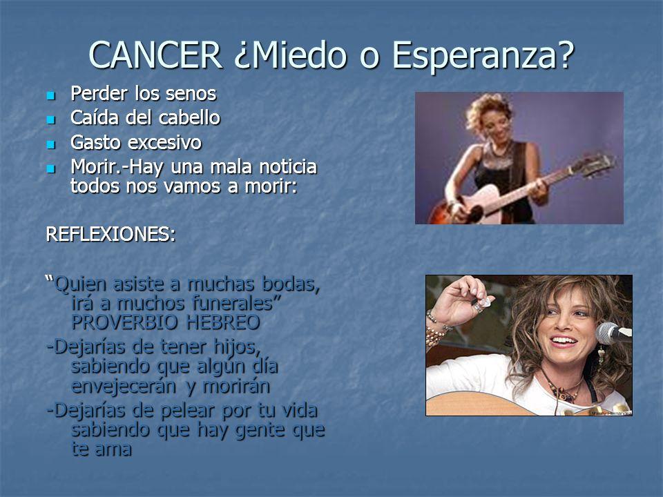 CANCER ¿Miedo o Esperanza