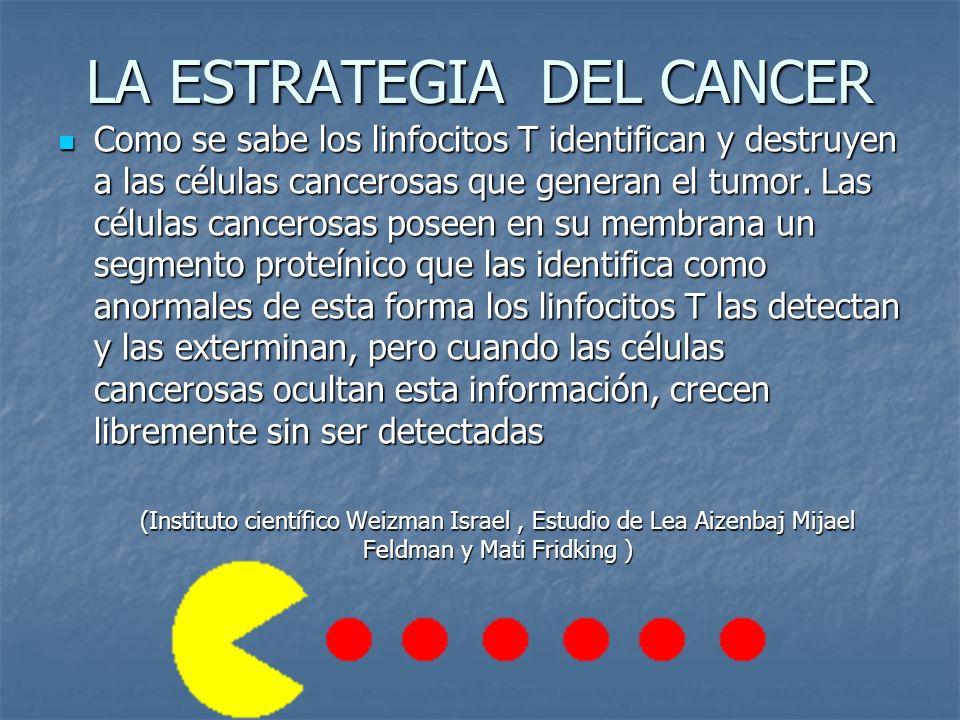 LA ESTRATEGIA DEL CANCER