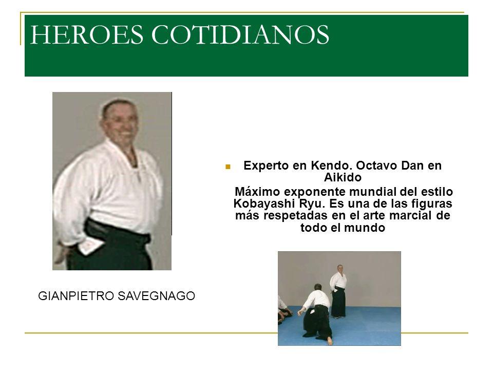 Experto en Kendo. Octavo Dan en Aikido