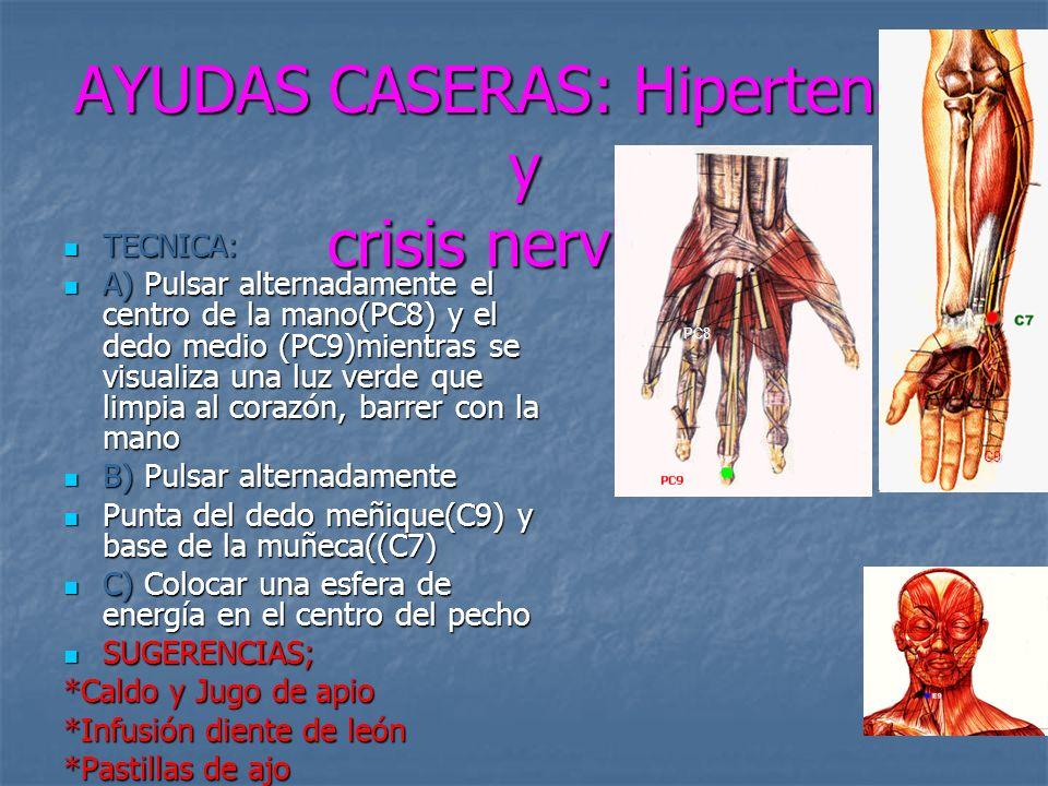 AYUDAS CASERAS: Hipertensón y crisis nerviosa