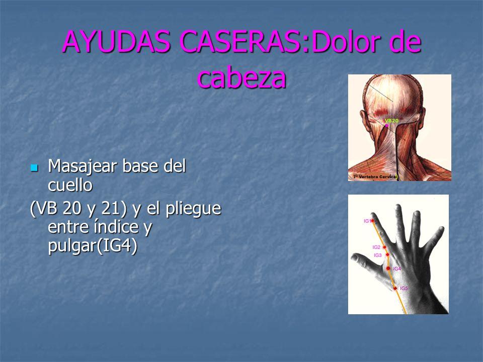 AYUDAS CASERAS:Dolor de cabeza