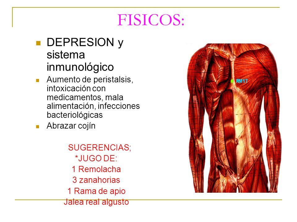 FISICOS: DEPRESION y sistema inmunológico