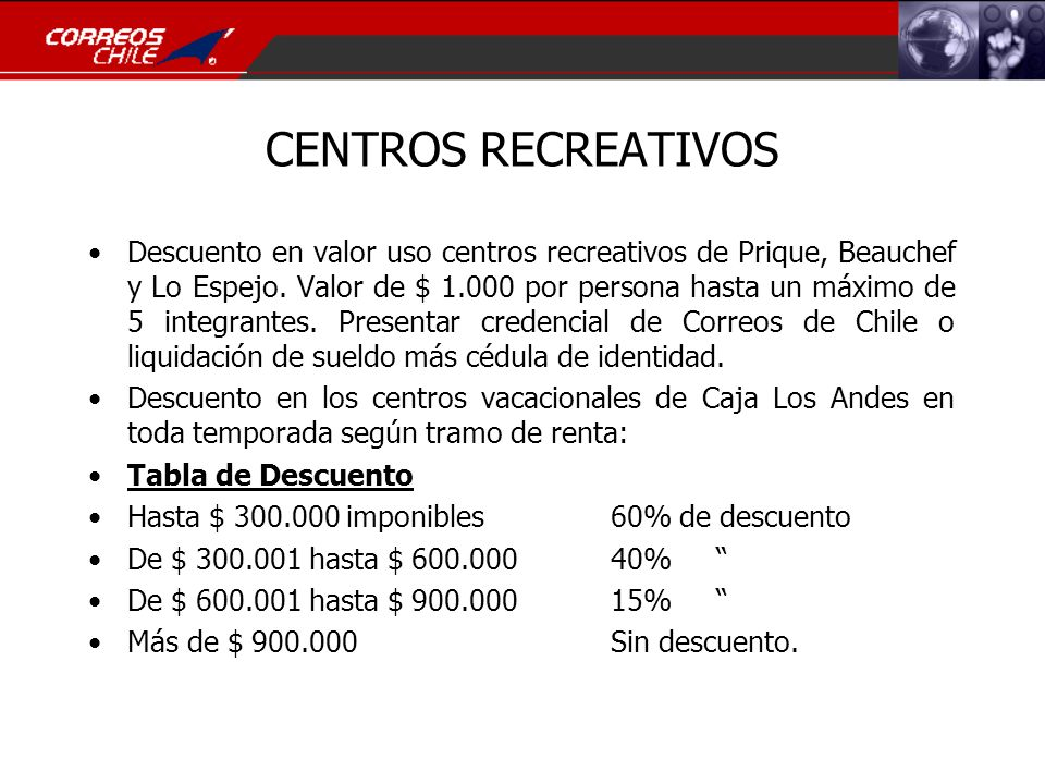 CENTROS RECREATIVOS
