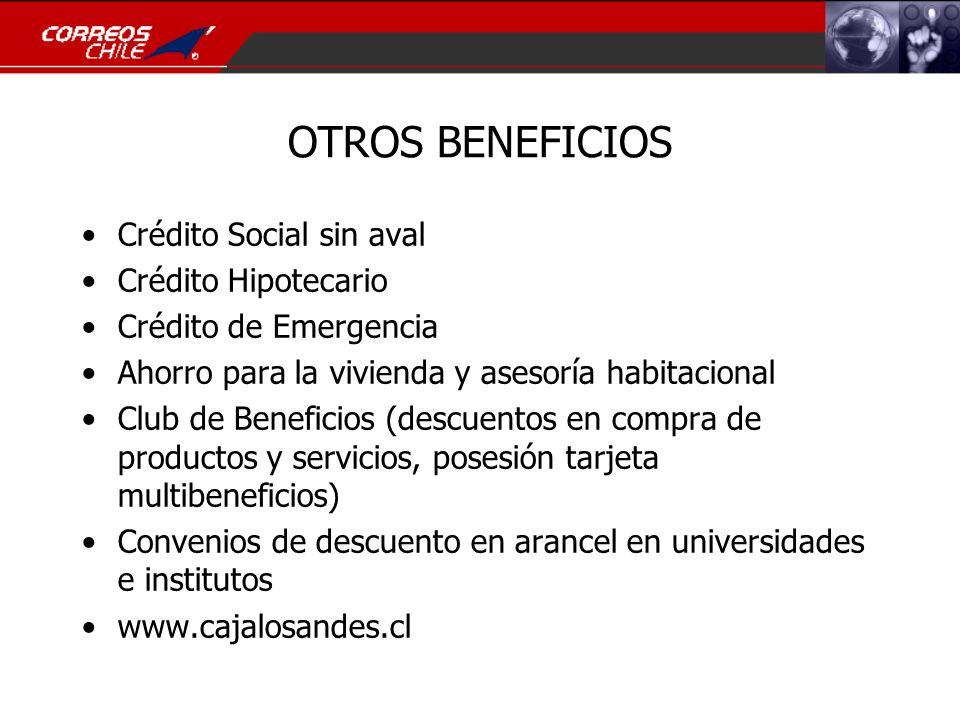 OTROS BENEFICIOS Crédito Social sin aval Crédito Hipotecario
