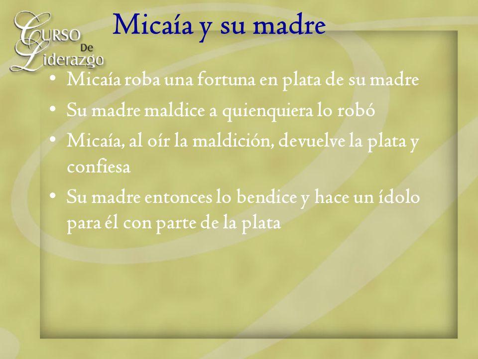 Micaía y su madre Micaía roba una fortuna en plata de su madre