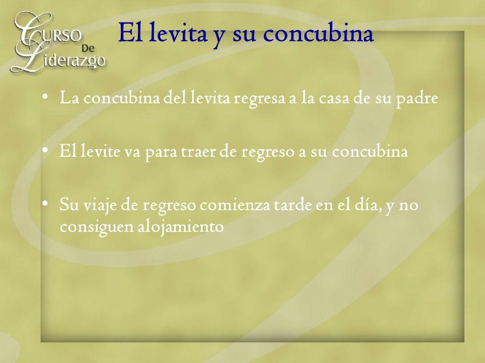 El levita y su concubina