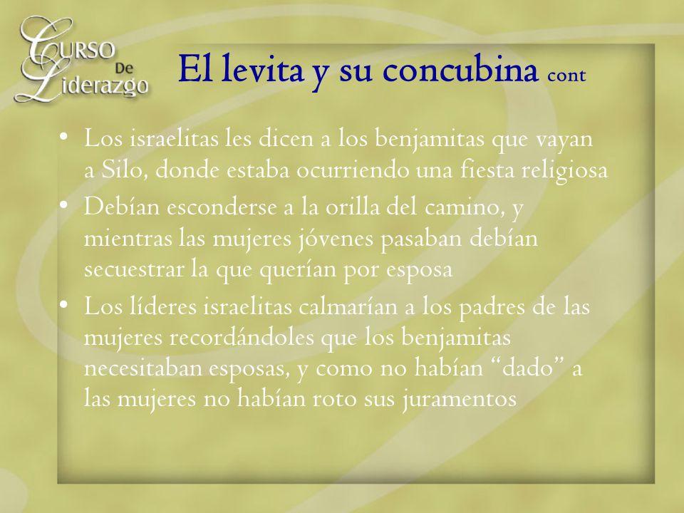 El levita y su concubina cont