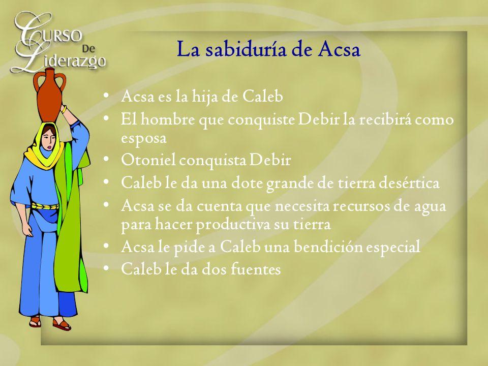 La sabiduría de Acsa Acsa es la hija de Caleb
