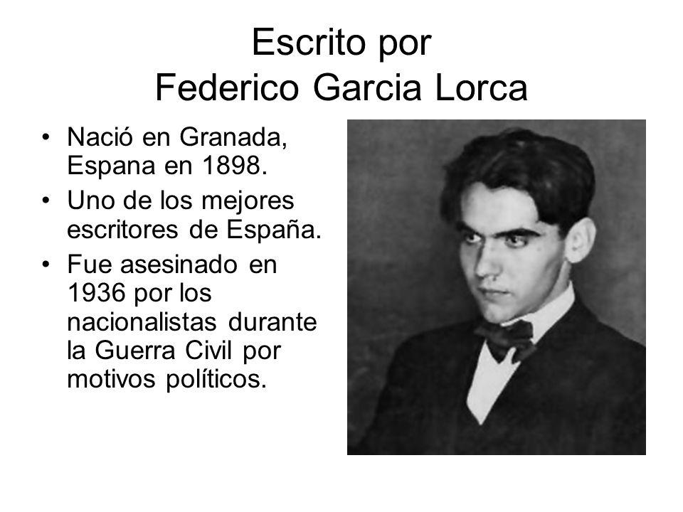 Escrito por Federico Garcia Lorca