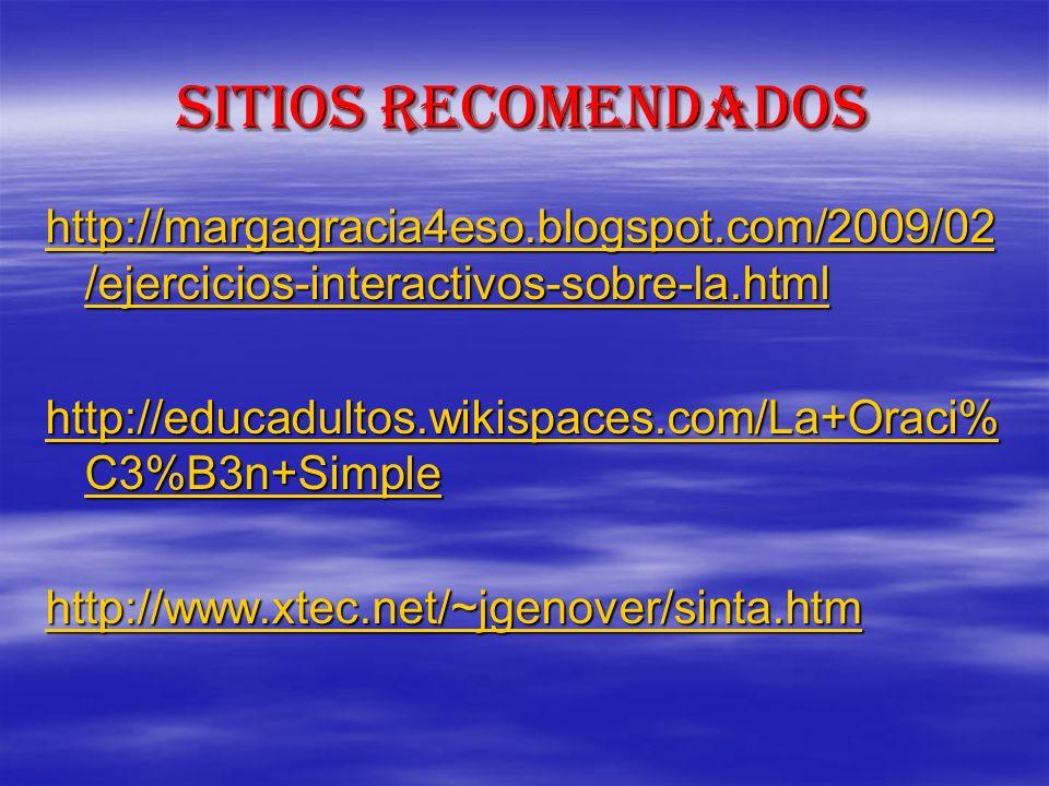 Sitios recomendados