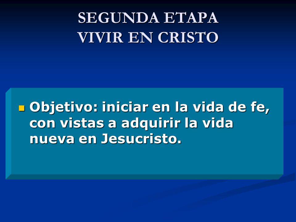 SEGUNDA ETAPA VIVIR EN CRISTO
