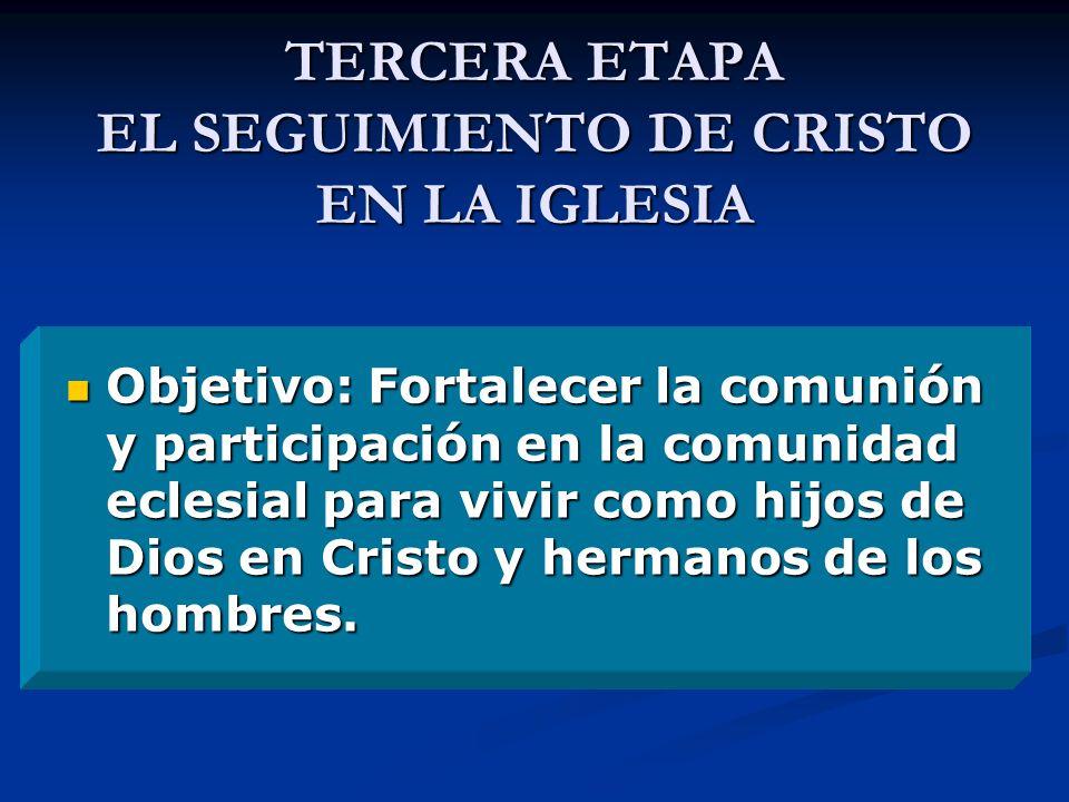 TERCERA ETAPA EL SEGUIMIENTO DE CRISTO EN LA IGLESIA