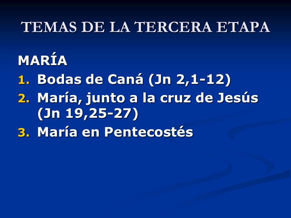 TEMAS DE LA TERCERA ETAPA