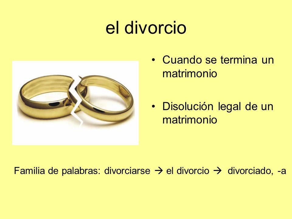 el divorcio Cuando se termina un matrimonio