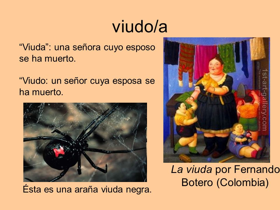 viudo/a La viuda por Fernando Botero (Colombia)