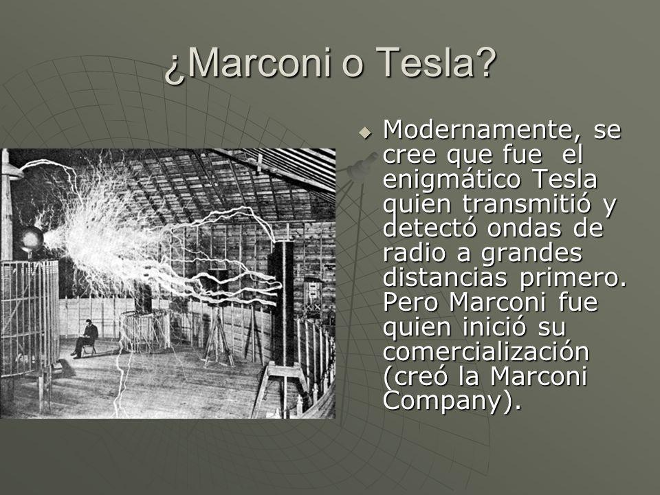 ¿Marconi o Tesla