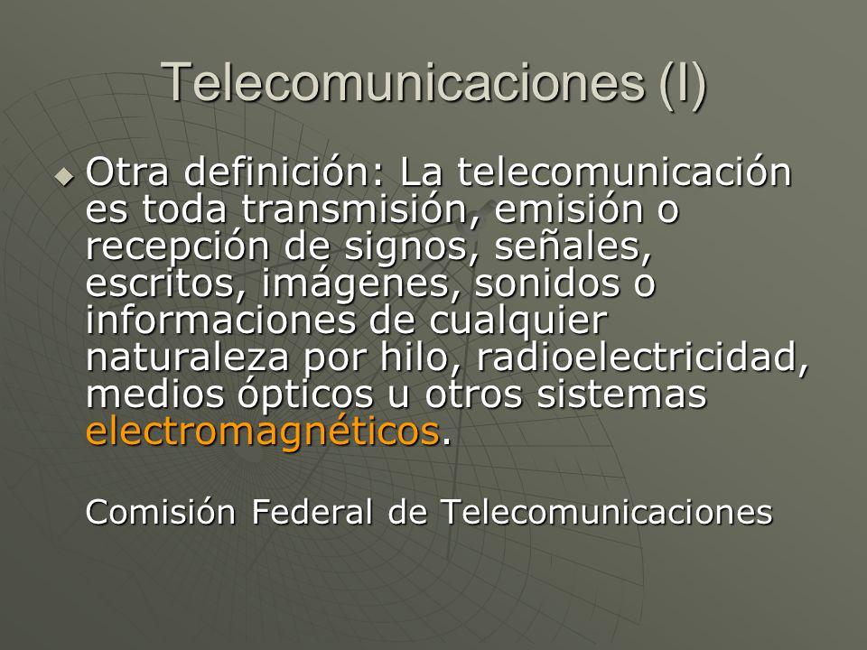 Telecomunicaciones (I)