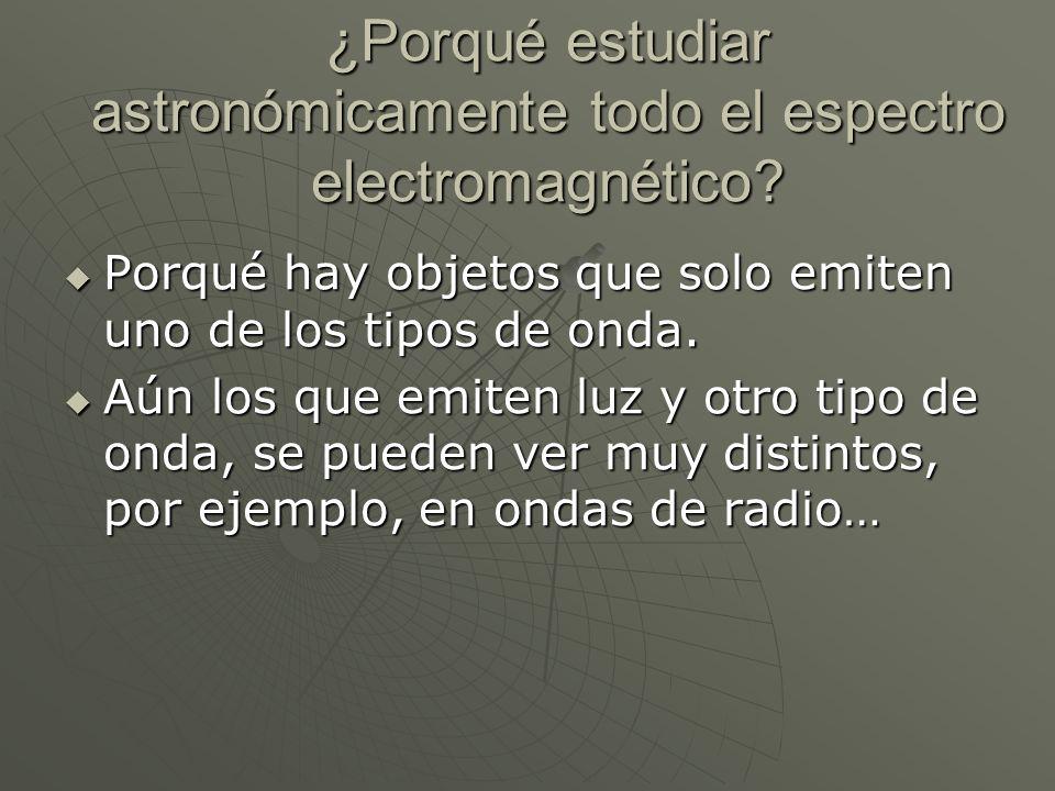 ¿Porqué estudiar astronómicamente todo el espectro electromagnético