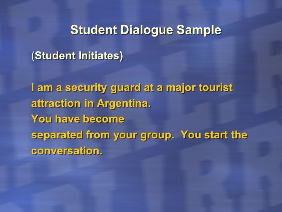 Student Dialogue Sample