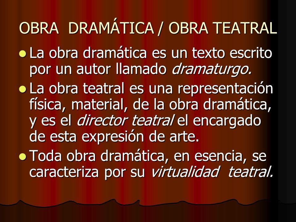OBRA DRAMÁTICA / OBRA TEATRAL
