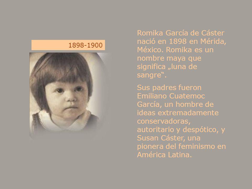 Romika García de Cáster nació en 1898 en Mérida, México