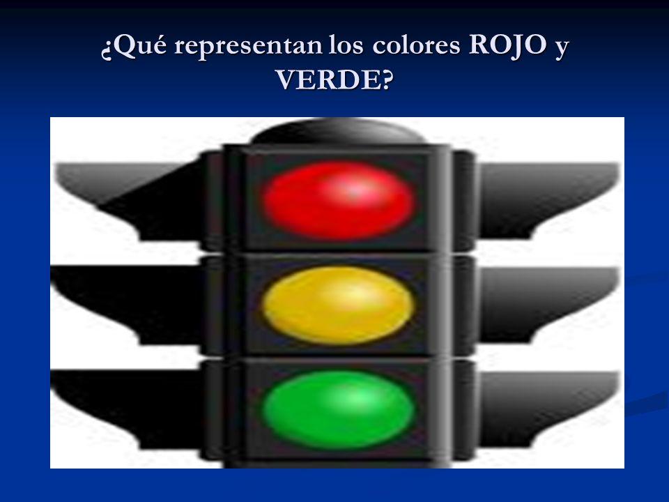 ¿Qué representan los colores ROJO y VERDE