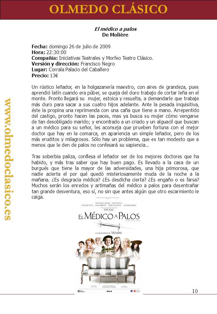 OLMEDO CLÁSICO www.olmedoclasico.es