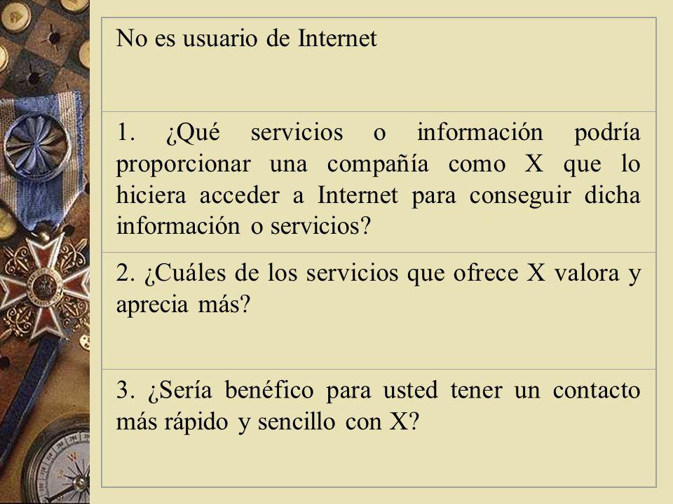 No es usuario de Internet