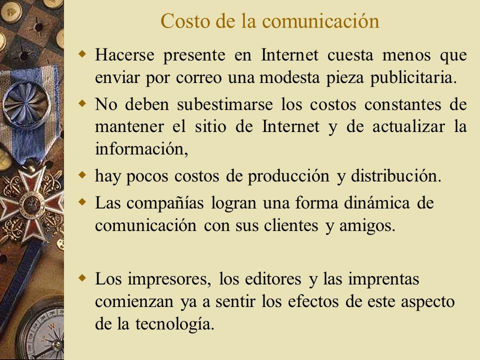Costo de la comunicación