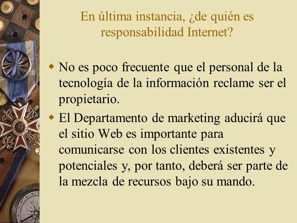 En última instancia, ¿de quién es responsabilidad Internet