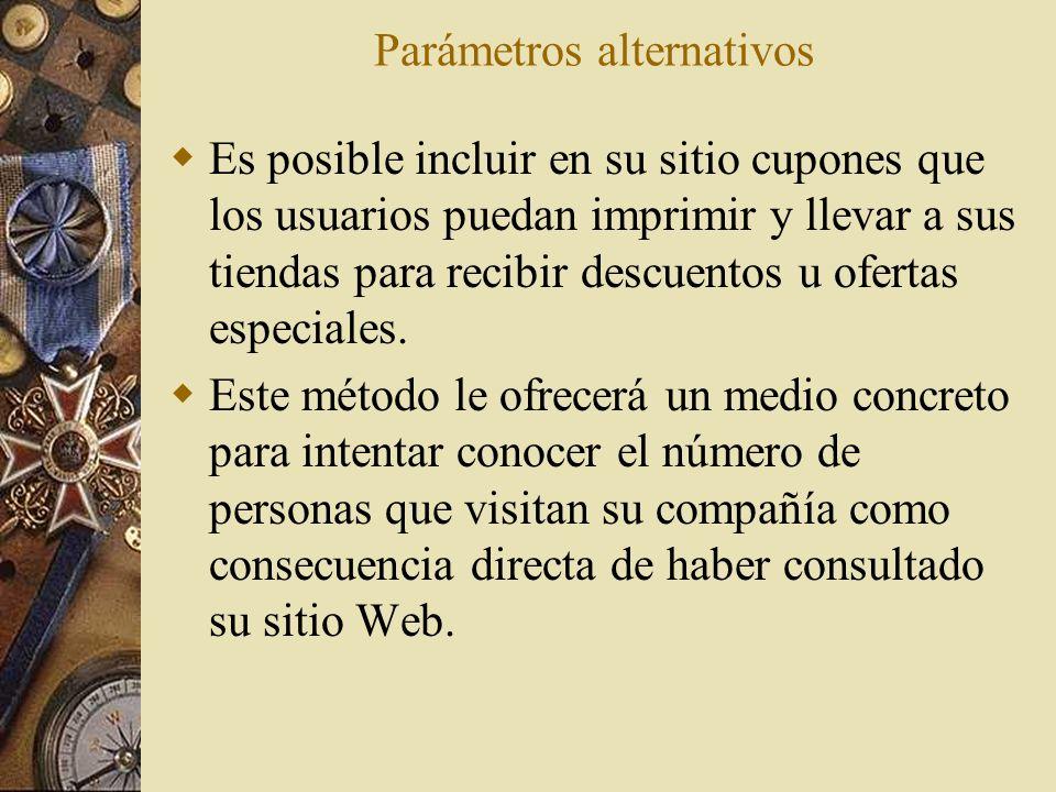 Parámetros alternativos
