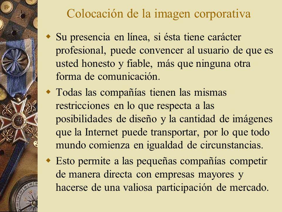 Colocación de la imagen corporativa