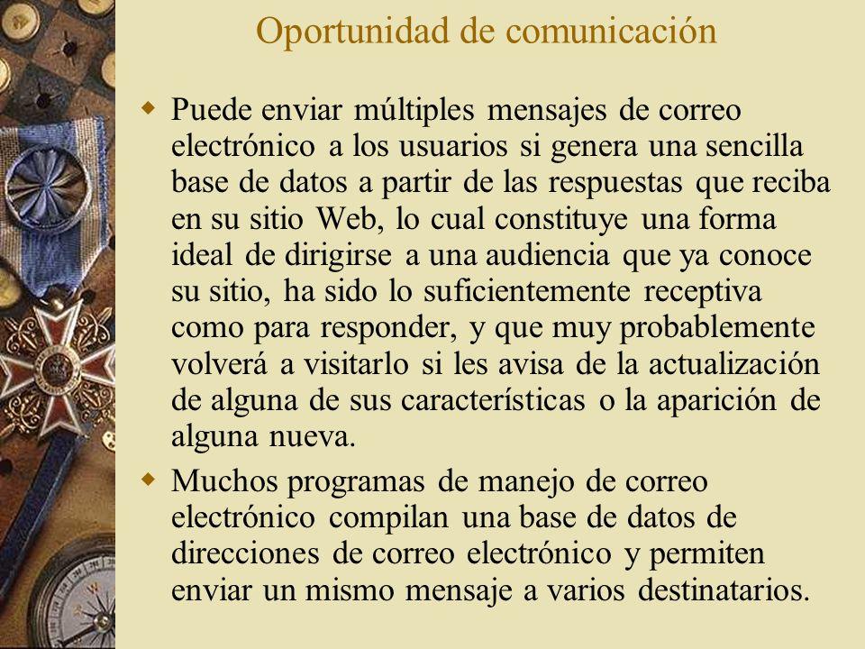 Oportunidad de comunicación