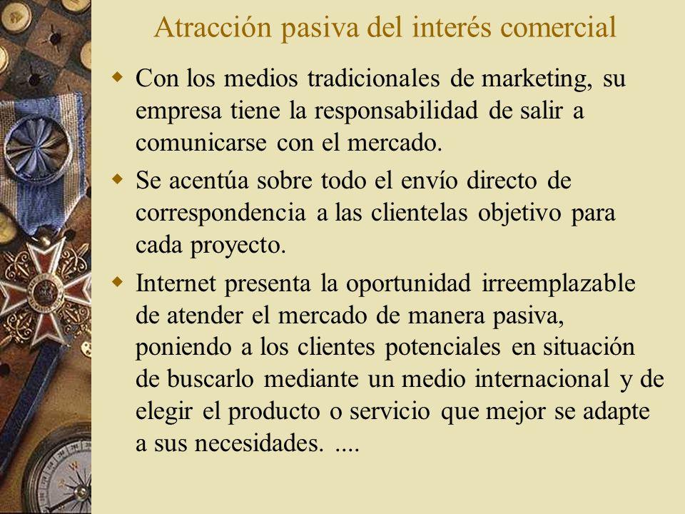 Atracción pasiva del interés comercial