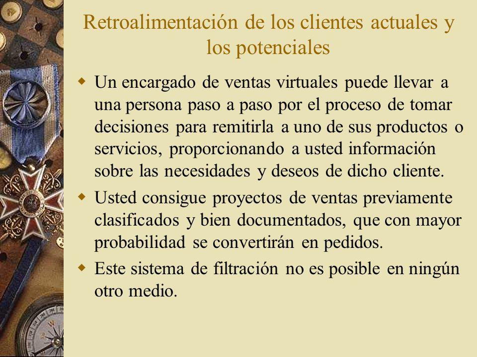 Retroalimentación de los clientes actuales y los potenciales