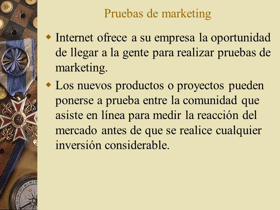 Pruebas de marketing Internet ofrece a su empresa la oportunidad de llegar a la gente para realizar pruebas de marketing.