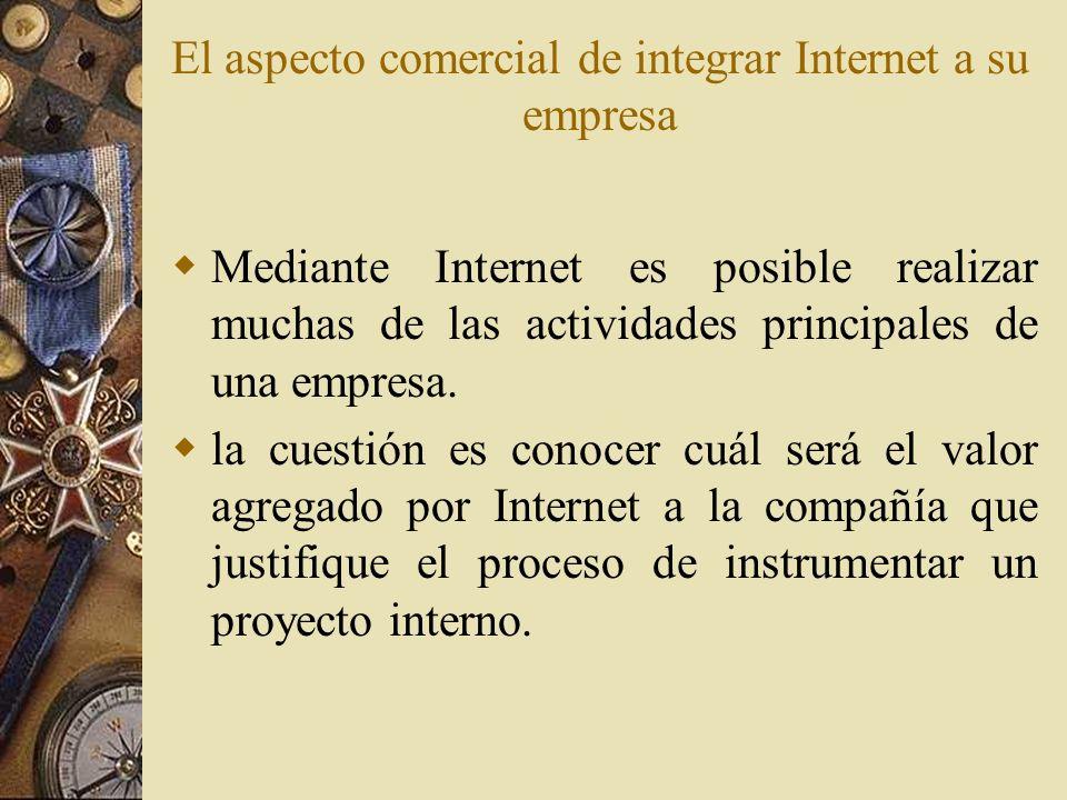 El aspecto comercial de integrar Internet a su empresa