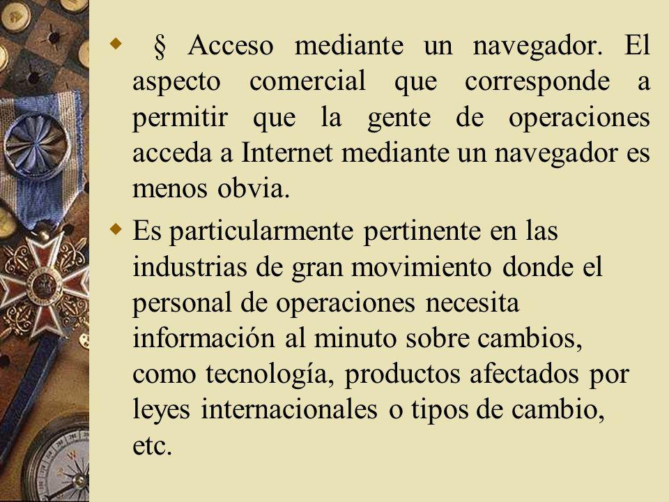 § Acceso mediante un navegador