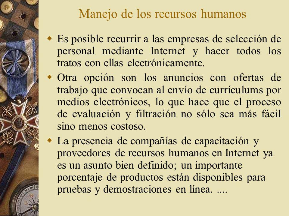 Manejo de los recursos humanos