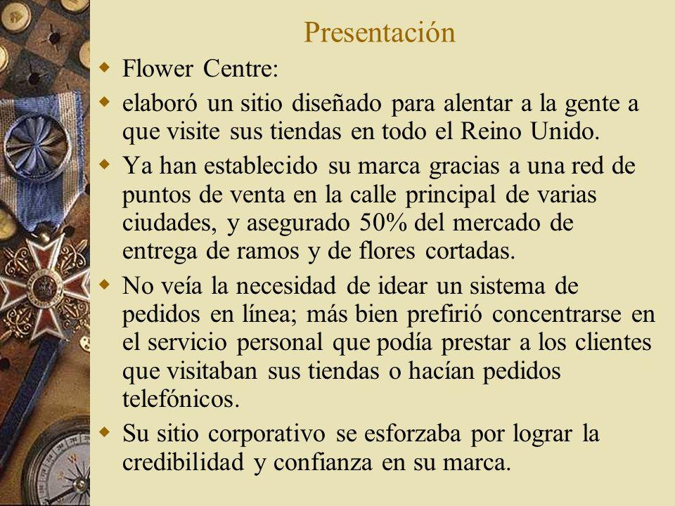 Presentación Flower Centre: