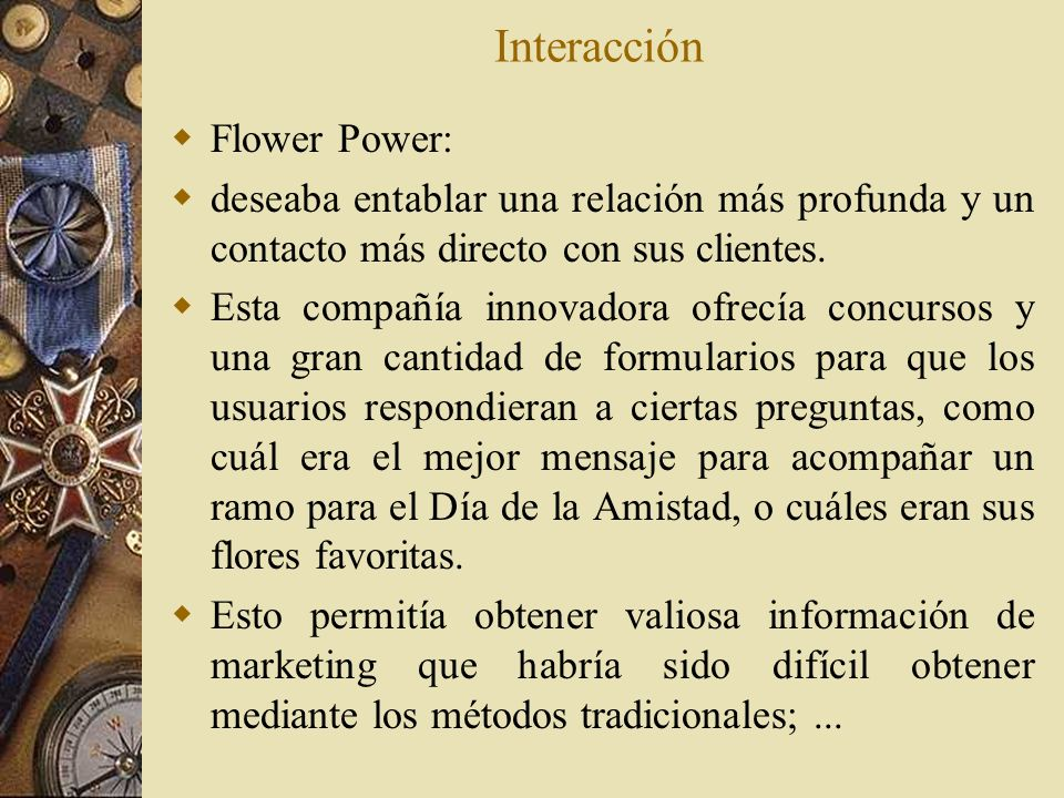 Interacción Flower Power: