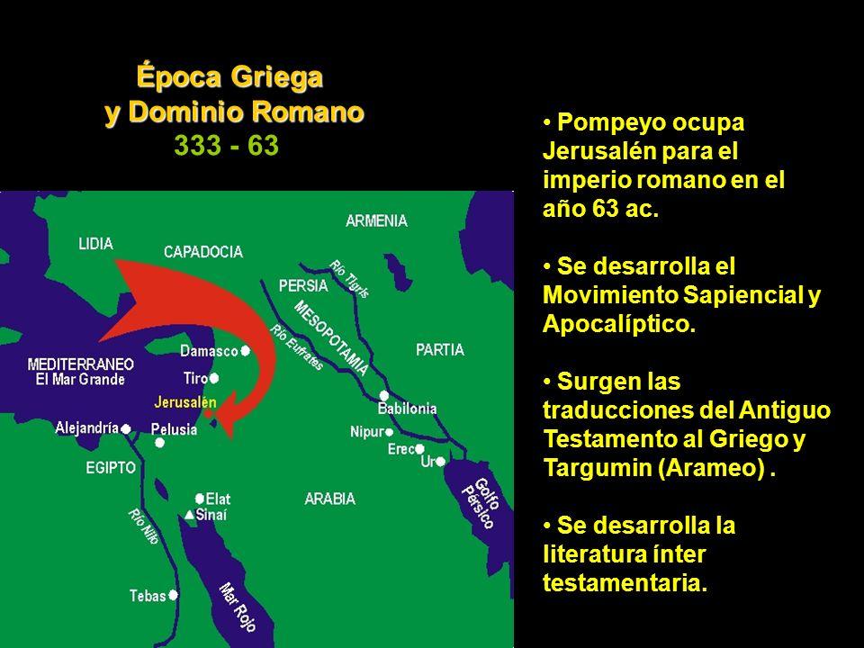 Época Griega y Dominio Romano